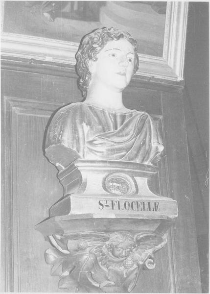 buste-reliquaire de saint Flocel, vue générale