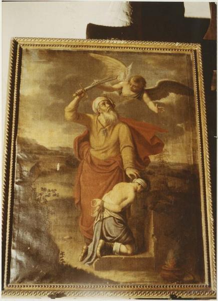 Tableau : le Sacrifice d'Abraham, vue générale