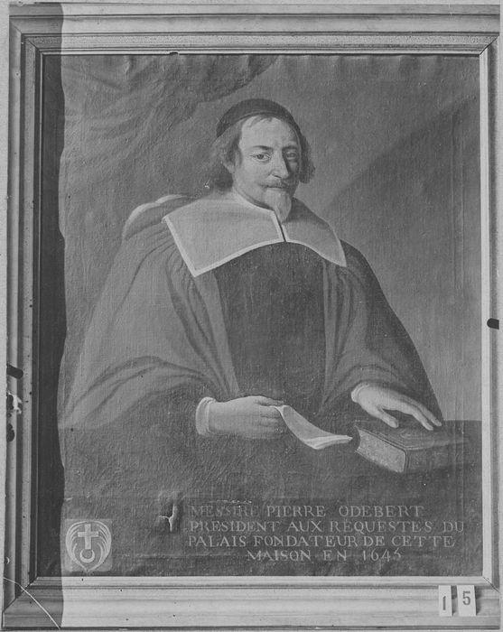 Tableau et cadre : portrait de Pierre Odebert