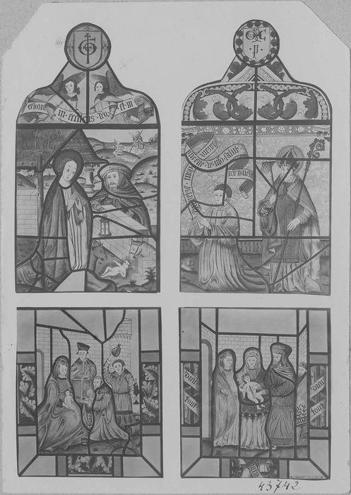 Verrière de la baie 6 : l'Enfance du Christ, vue générale du projet de restauration