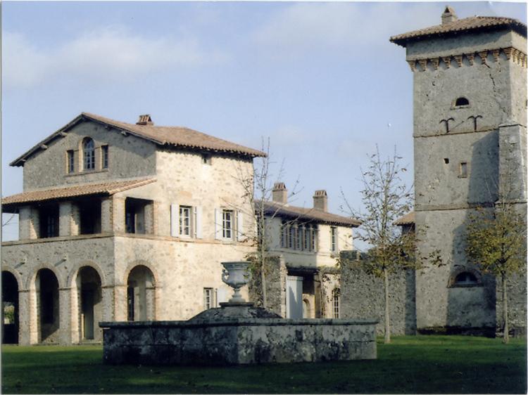 Maison du jardinier: vue partielle de la façade