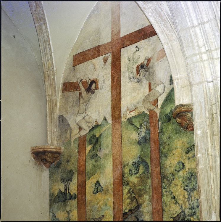 Intérieur: détail de fresque (Crucifixion)