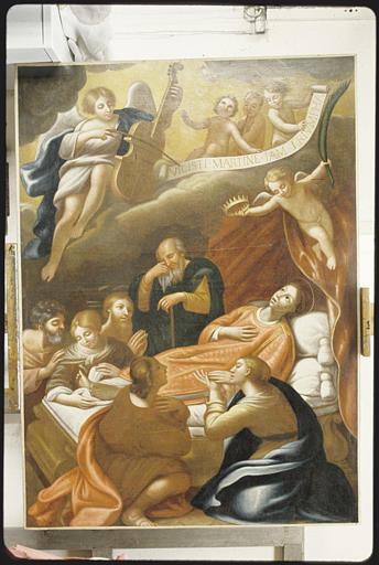 Tableau : 'La mort de saint Martin' ; après restauration