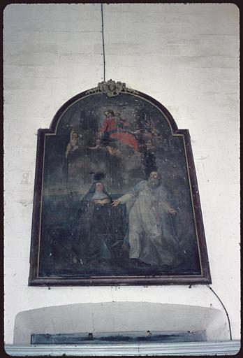 tableau : saint Elme et sainte Claire