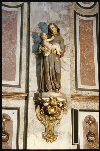 Groupe sculpté, console : Saint Antoine-de-Padoue