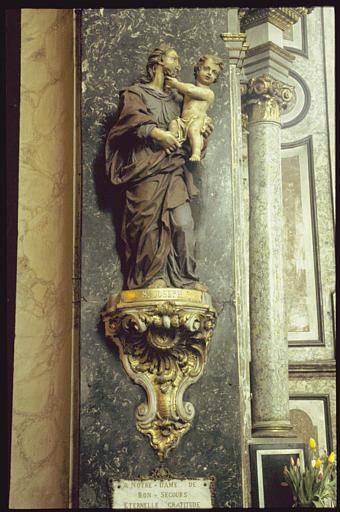 Statue sur console : Saint Joseph et l'Enfant Jésus