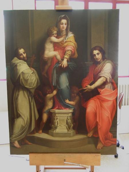 Tableau : La Vierge à l'enfant entre Saint François et Saint Jean, vue générale