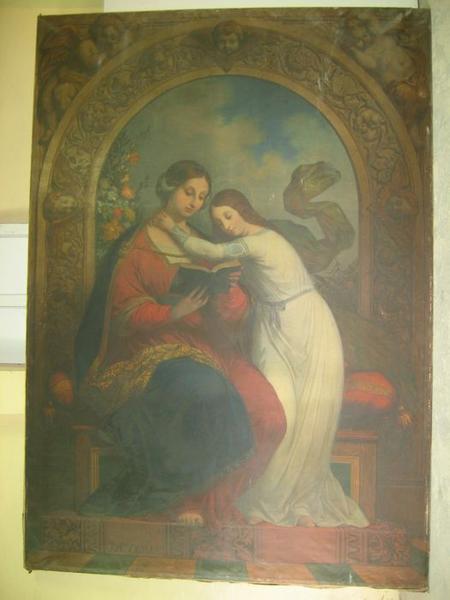 tableau : sainte Anne et la Vierge, vue générale