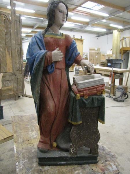 statue (petite nature) : Vierge de l'Annonciation, vue générale