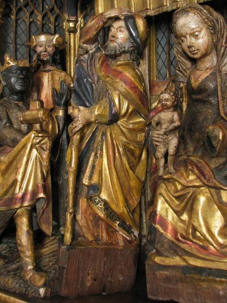 Bas-relief (triptyque) : l'Adoration des Mages, détail