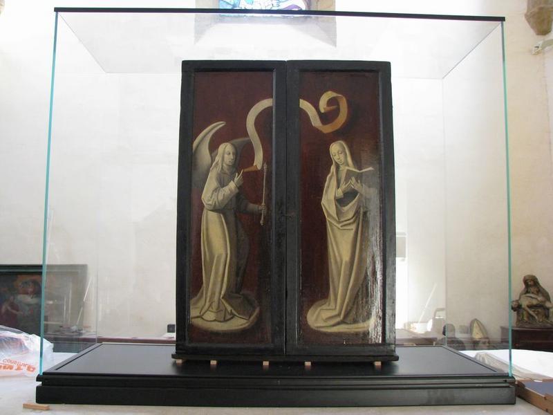 Bas-relief (triptyque) : l'Adoration des Mages, vue générale avec les volets fermés