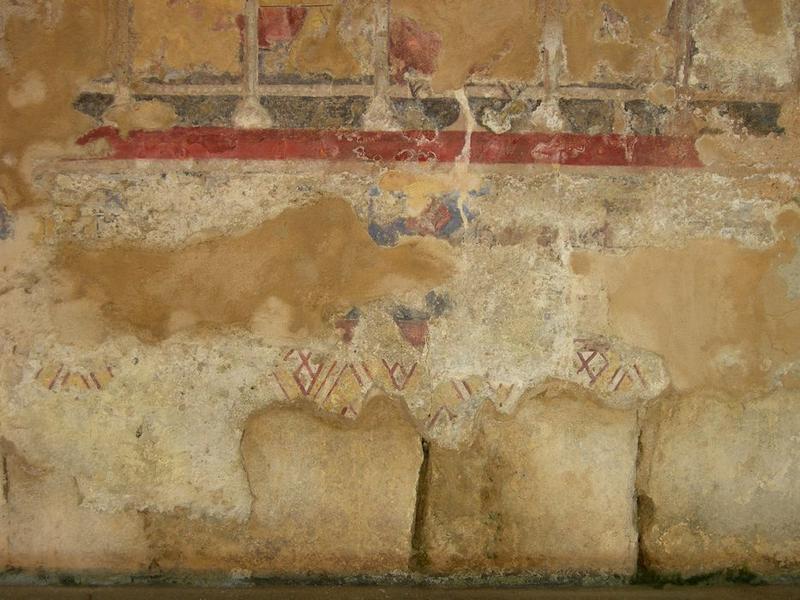 Peintures monumentales, mur nord, La Cène, détail