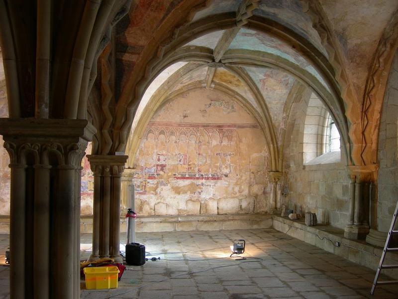 Peintures monumentales, mur nord, La Cène, vue vue générale