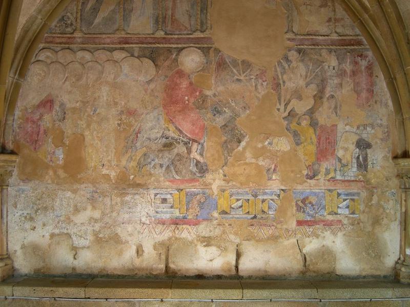 Peintures monumentales, mur nord, Entrée à Jérusalem (l'), vue partielle