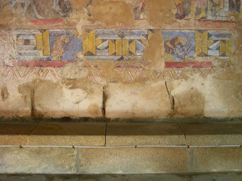 Peintures monumentales, mur nord, Entrée à Jérusalem (l'), détail