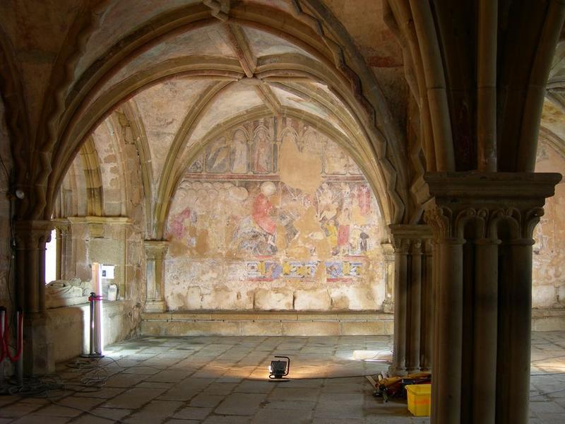 Peintures monumentales, mur nord, Entrée à Jérusalem (l'), vue générale