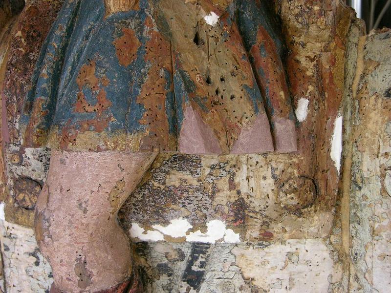 Groupe sculpté : charité de saint Martin (la), détail