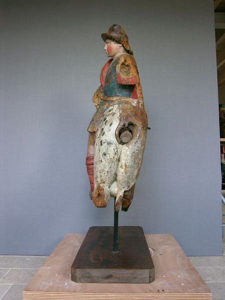 Groupe sculpté : charité de saint Martin (la), vue générale du profil arrière