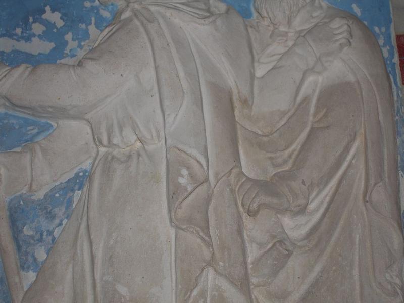 Autel secondaire sud, bas-relief, détail