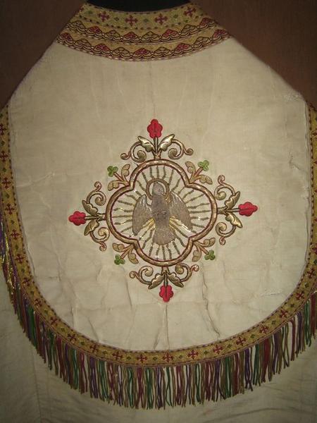 Chape (ornement blanc), détail