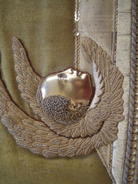 Voile de calice (?, ornement jaune), détail