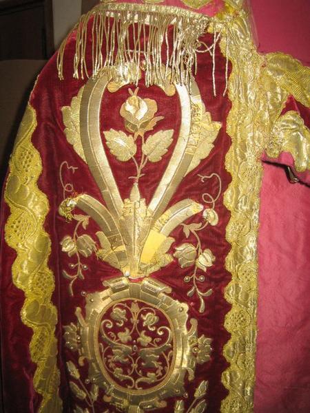 Étole (ornement rouge), détail