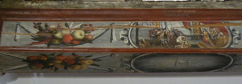 Plafond peint, détail