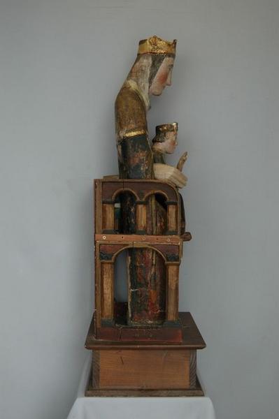 Statue : Vierge à l'enfant, vue générale, profil gauche