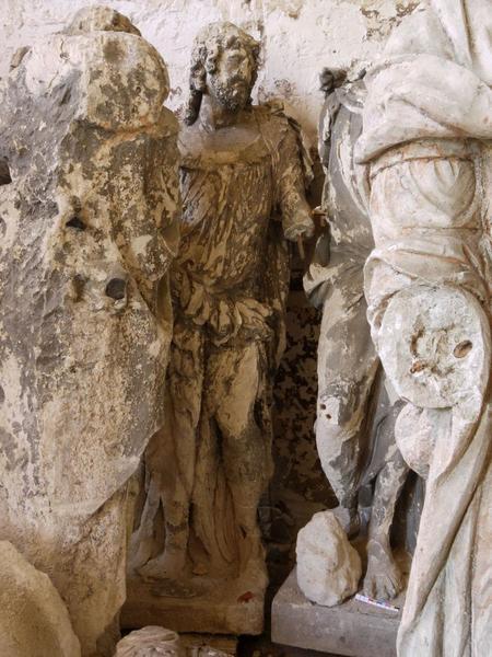 Statue(fragment) : saint Barthélemy, vue générale