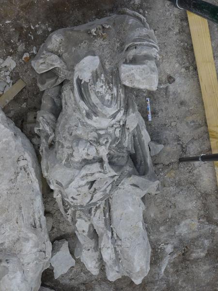Statue(fragment): saint Simon ou saint Philippe, vue générale