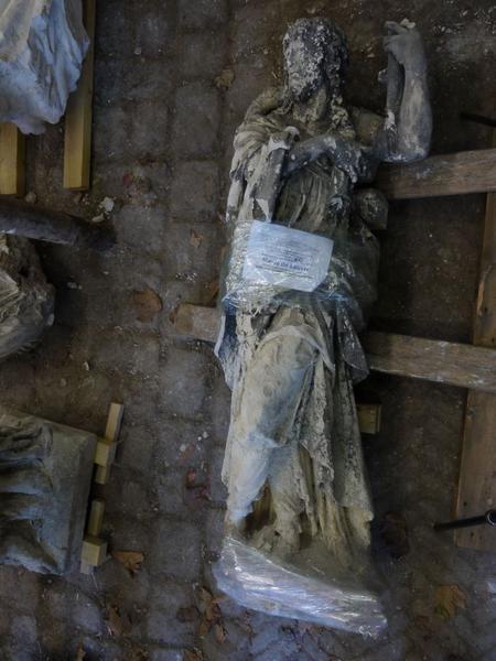 Statue(fragment) : saint Jacques, vue générale