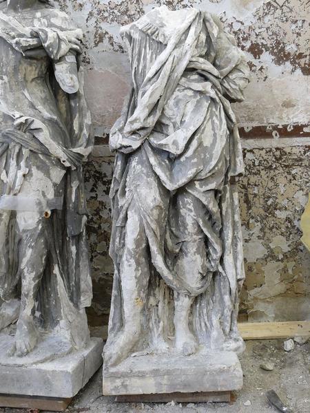 Statue(fragment) : saint Thomas, vue générale