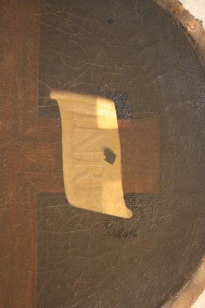 Tableau en trompe-l'oeil et son cadre : Christ en croix, détail