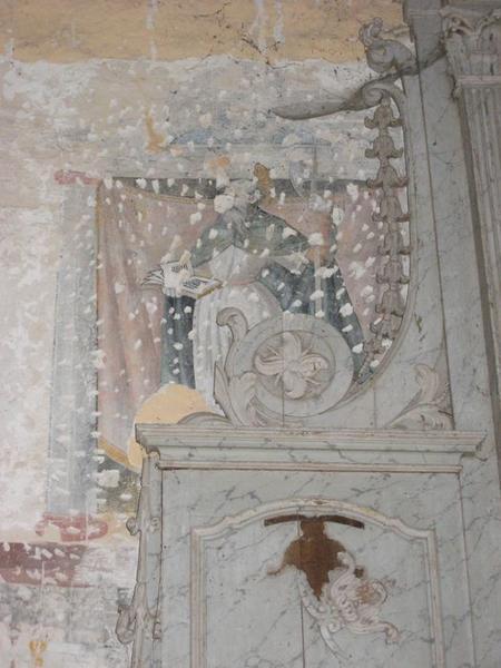 Peinture monumentale, chapelle nord, vue partielle, apôtre