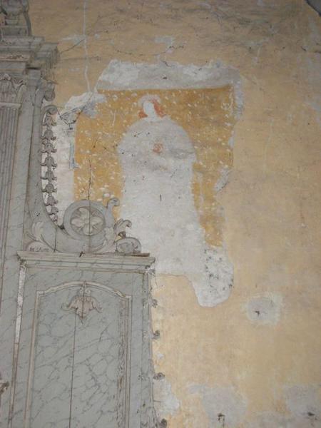 Peinture monumentale, chapelle nord, vue partielle, saint Jean(?)