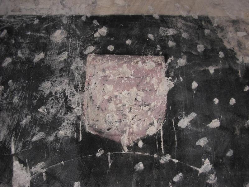 Peinture monumentale, chapelle nord, détail: litre funéraire