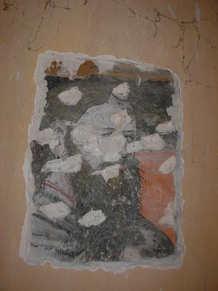 Peinture monumentale, chapelle nord, apôtre, détail