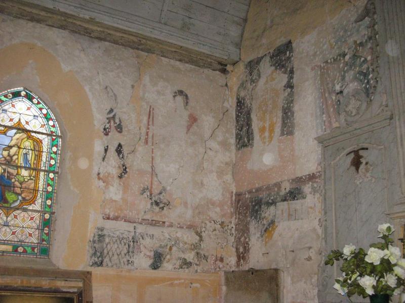 Peinture monumentale, chapelle nord, vue partielle