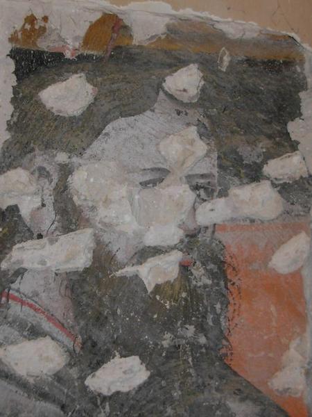 Peinture monumentale, chapelle nord, détail d'un apôtre