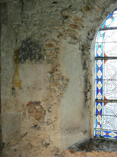 Peinture monumentale, nord, détail d'une croix