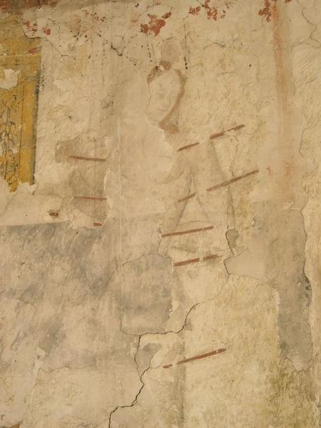 Peinture monumentale, nord-est, vue partielle: saint Sébastien