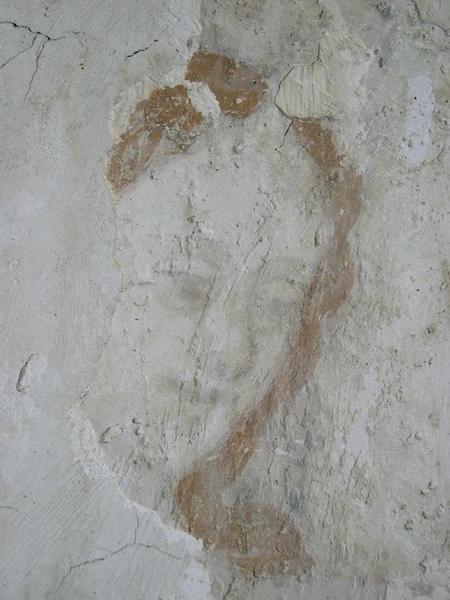 Peinture monumentale, nord-est, détail: saint Sébastien