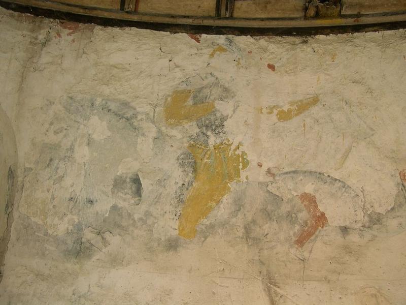 Peinture monumentale, sud-est: saint Martin, vue partielle