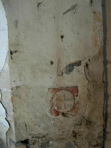 Peinture monumentale, sud, détail: croix de consécration