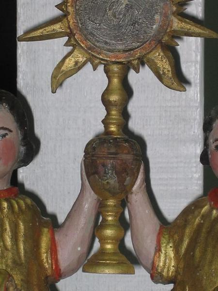 Bâton de procession: Saint-Sacrement, détail
