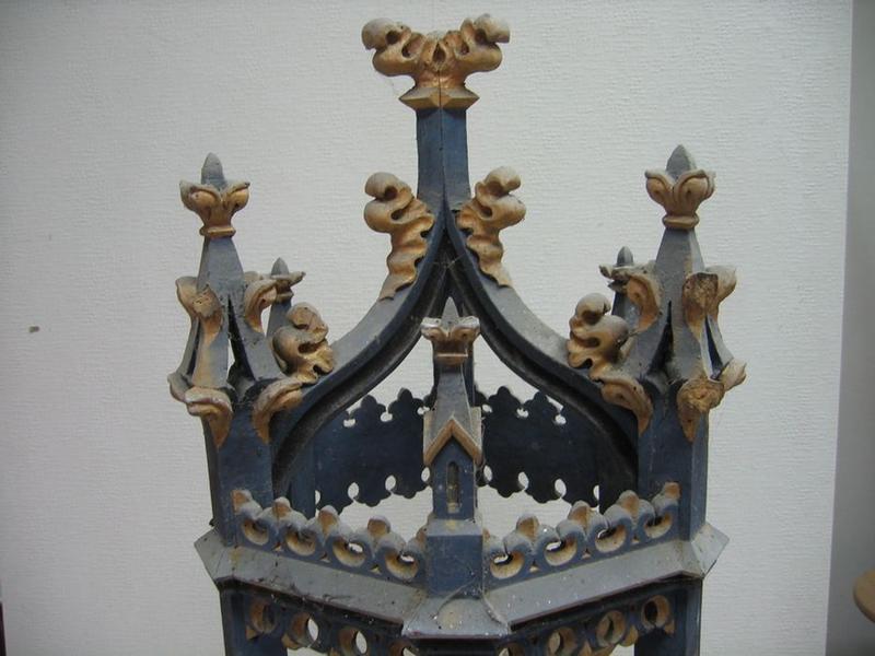 Bâton de procession: saint Michel terrassant le dragon, détail