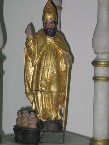 Bâton de procession: saint Nicolas, détail