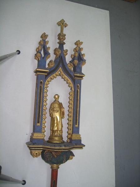 Bâton de procession: saint Vincent, vue générale
