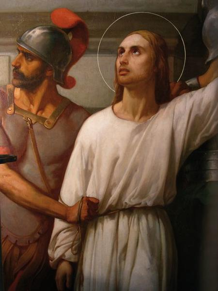 Tableau: martyre de saint Gervais et saint Protais (le), vue partielle