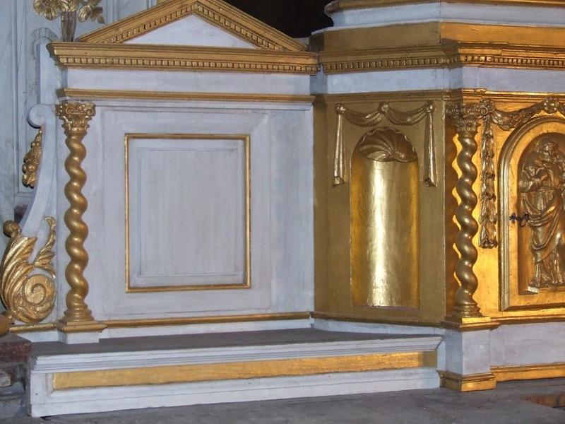 Tabernacle du maître-autel, vue partielle